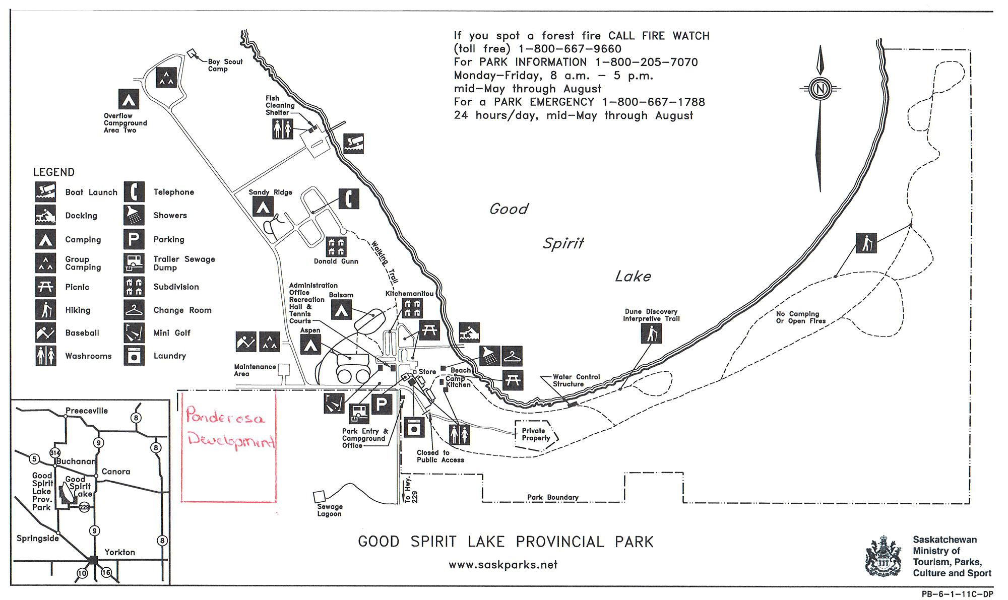 Good Spirit Park map